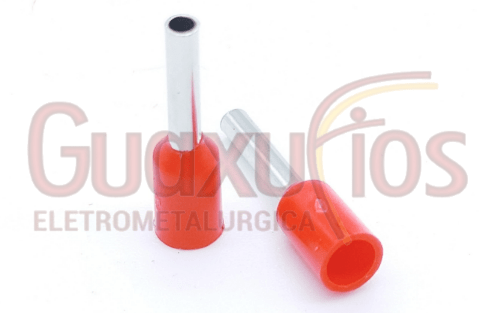 TERMINAL PRE-ISOLADO TUBULAR ILHOS SIMPLES  1,00MM2 VERMELHO