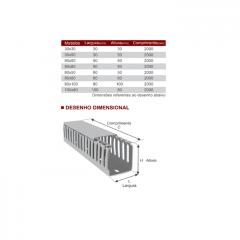 CANALETA CINZA TOTAL ABERTA 50L X 50H MM SIBRATEC