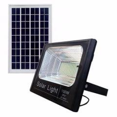 REFLETOR SOLAR LED 100W CTB COM CONTROLE