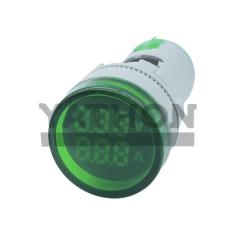 VOLTIMETRO/AMPERIMETRO DIGITAL 22MM 60~500VCA / 0~100A VERDE YATHON