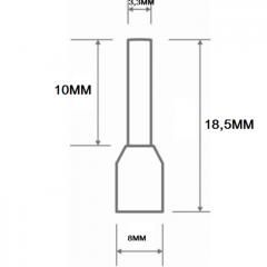 TERMINAL  TIPO TUBULAR ILHOS DUPLO 2 X 2,5MM